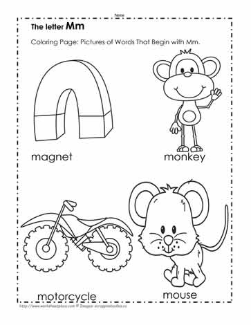 The Letter M Coloring Pictures Worksheets - Get Coloring Worksheet Letter M Worksheets For Kindergarten PNG