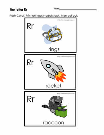 image regarding Printable Letter Flashcards identify The Letter R Flashcards Worksheets