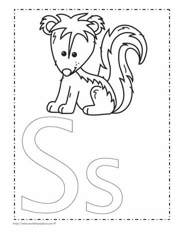 The Letter S Coloring Page