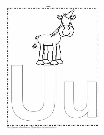 The Letter U Coloring Page