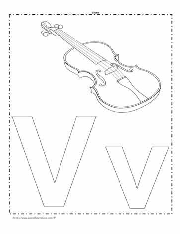 The Letter V Coloring Page