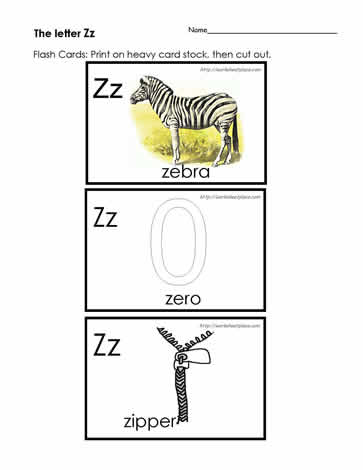 The Letter Z Flashcards