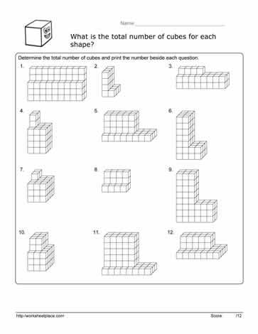 Volume Cube Worksheet