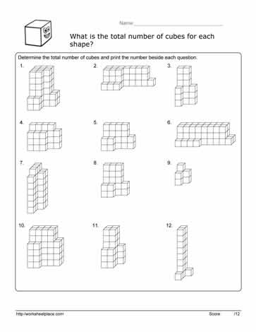 Volume Cube Worksheet Worksheets