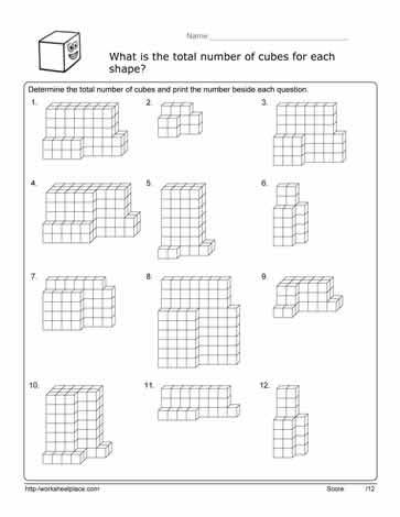 worksheets volume cubes worksheet opossumsoft worksheets and printables. Black Bedroom Furniture Sets. Home Design Ideas
