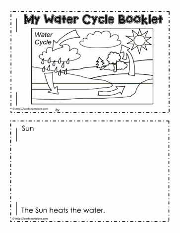 water cycle booklet worksheets. Black Bedroom Furniture Sets. Home Design Ideas