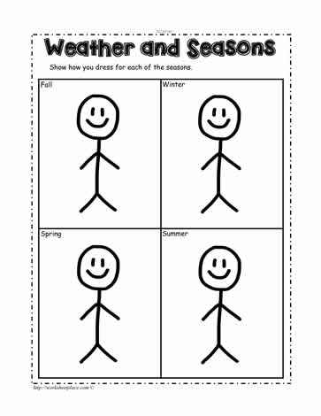 Dress For The Weather Worksheets