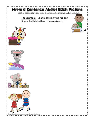 Sentence Writing Worksheets
