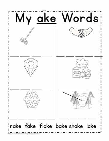 ake Word Family Activities