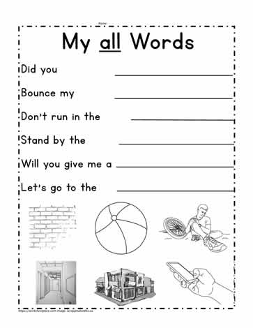 All Word Family Sentences