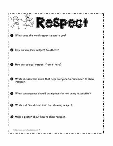 Respect Worksheet