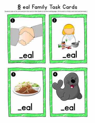 eal Word Task Cards
