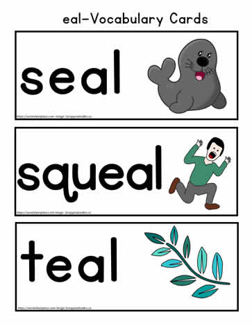 eal Words Vocabulary Cards