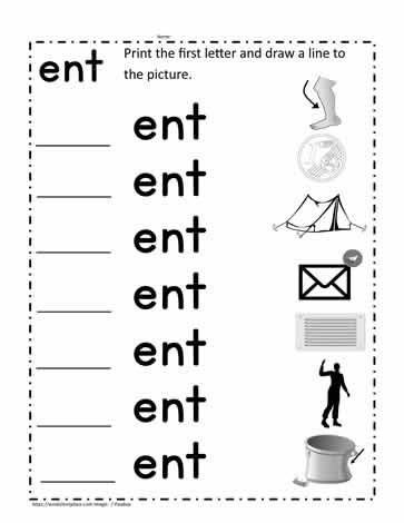 ent Word Family Worksheet