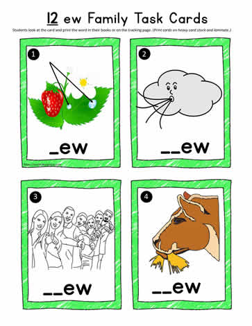 ew Word Family Task Cards