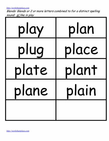 pl word study lists play plug plan etc worksheets