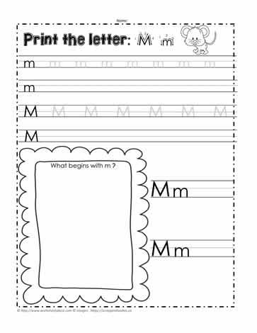 The Letter Mm Worksheets