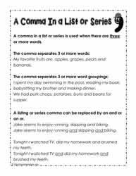 A Series or List Comma