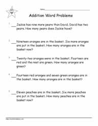 Addition Word Problems to 20