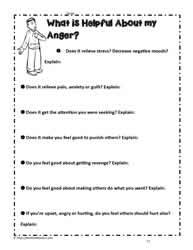 Anger Management Worksheets