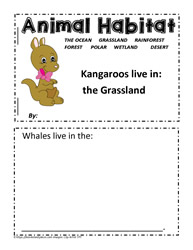 Worksheets Animal Habitats Worksheets animal habitat worksheets booklet