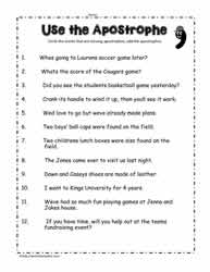 Apostrophe WorksheetsWorksheets