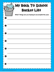 My Back to School Bucket List