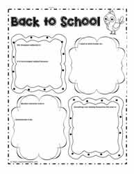 Back to School Graphic Organizer