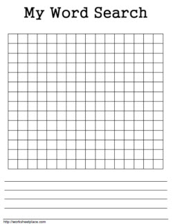 printable blank word search