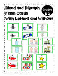 Blend and Digraphs Flash Cards