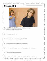 Printables Bullying Worksheets bullying worksheetsworksheets worksheet