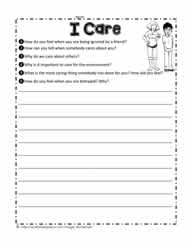 Caring Worksheet