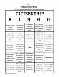 Citizenship BINGO