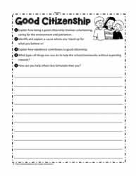 Citizenship Worksheet