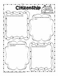 Citizenship Worksheet for Character
