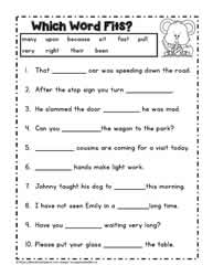 Printables Cloze Reading Worksheets second grade readingworksheets dolch worksheet 1