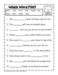Printables Cloze Reading Worksheets second grade readingworksheets dolch worksheet 3