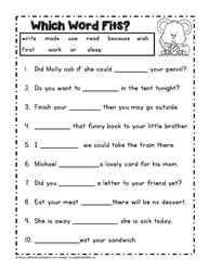 Printables Cloze Worksheets second grade readingworksheets dolch worksheet 5