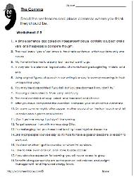 Comma exercises with answers pdf