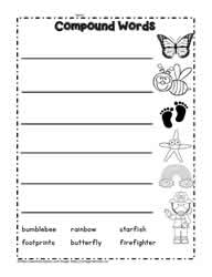 Find the Compound Words, Compound Word Worksheets