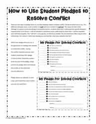 Conflict Resolution Pledges - How to