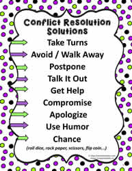 Poster for Conflict Resolution