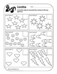 Printables Counting Objects Worksheets count objectsworksheets counting objects worksheet 1