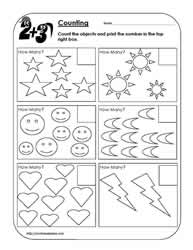 Counting Objects Worksheet 2