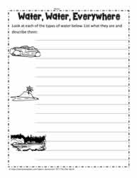 Water Everywhere Worksheet