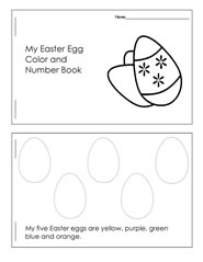 Easter Color and Number Booklet to Make