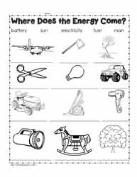 Energy Worksheets