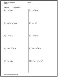 Worksheets Simplify Exponents Worksheet simplify the exponentsworksheets exponents worksheets