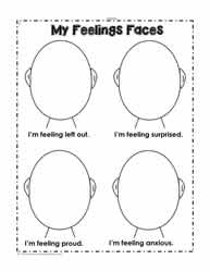 picture about Emotion Faces Printable known as Emotions Worksheets