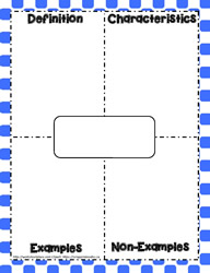photo relating to Printable Frayer Model called Frayer Type Worksheets
